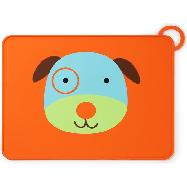 Skip Hop Zoo Fold & Go Silicone Kids Placemat Darby Dog