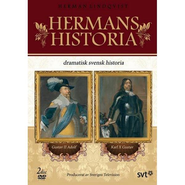 Hermans historia - Gustav II Adolf/Karl X Gustaf (2DVD) (DVD 2017)