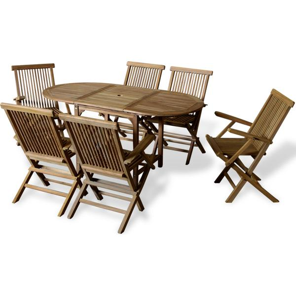 vidaXL 41998 Havemøbelsæt, 1 borde inkl. 6 stole