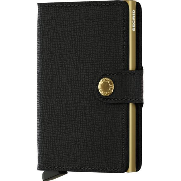 Secrid Mini Wallet - Crisple Black/Gold