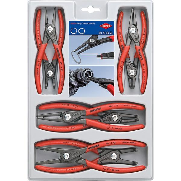Knipex 00 20 4 SB Precision Låseringstang, Rundtang Set 8-delar