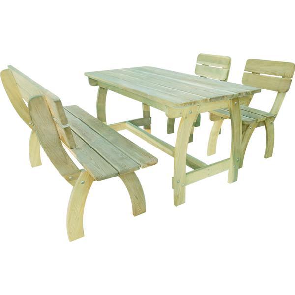 vidaXL 273753 Havemøbelsæt, 1 borde inkl. 2 stole & 1 sofaer