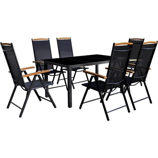 vidaXL 41734 Havemøbelsæt, 1 borde inkl. 6 stole