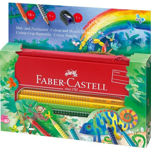 Faber-Castell Colour Grip Painting Drawing Set Jungle