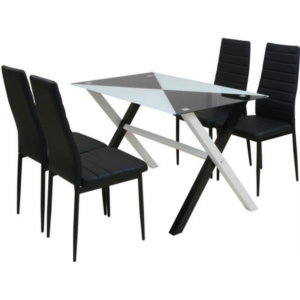 vidaXL 242941 Havemøbelsæt, 1 borde inkl. 4 stole