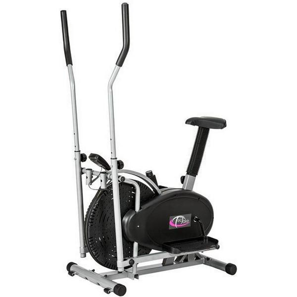 TecTake 2 in 1 Cross Trainer and Exercise Bike