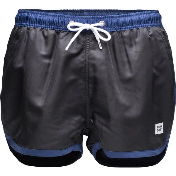 Frank Dandy St Paul Swim Shorts - Black/Dark Navy