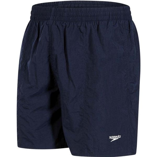 "Speedo Solid Leisure 16"" Swim Shorts - Navy"