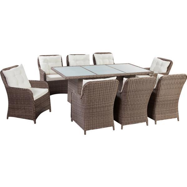 vidaXL 41811 Havemøbelsæt, 1 borde inkl. 8 stole