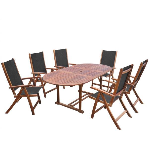 vidaXL 41749 Havemøbelsæt, 1 borde inkl. 6 stole