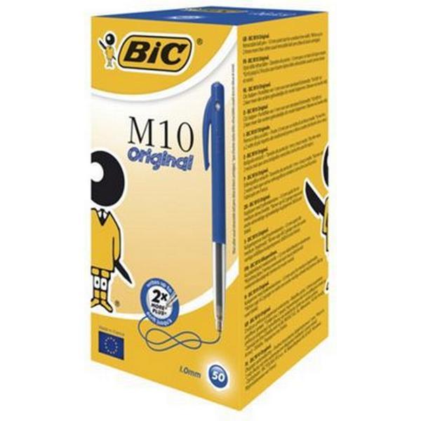 Bic M10 Retractable Ballpoint Pen Blue 50-pack