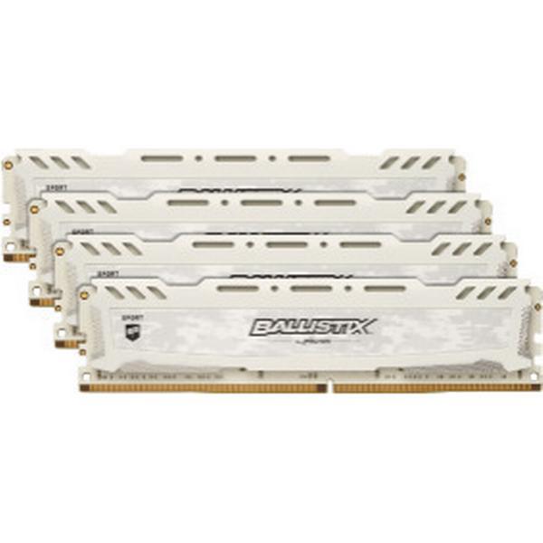 Crucial Ballistix Sport LT White DDR4 2666MHz 4x16GB (BLS4C16G4D26BFSC)