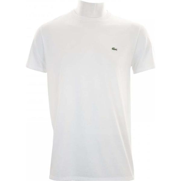 Lacoste Crew Neck Pima Cotton Jersey T-shirt - White