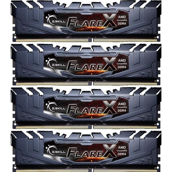 G.Skill Flare X DDR4 2400MHz 4x16GB (F4-2400C16Q-64GFX)