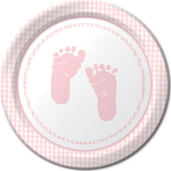 Party Savvy Gingham Feet Desserttallerken 17 cm