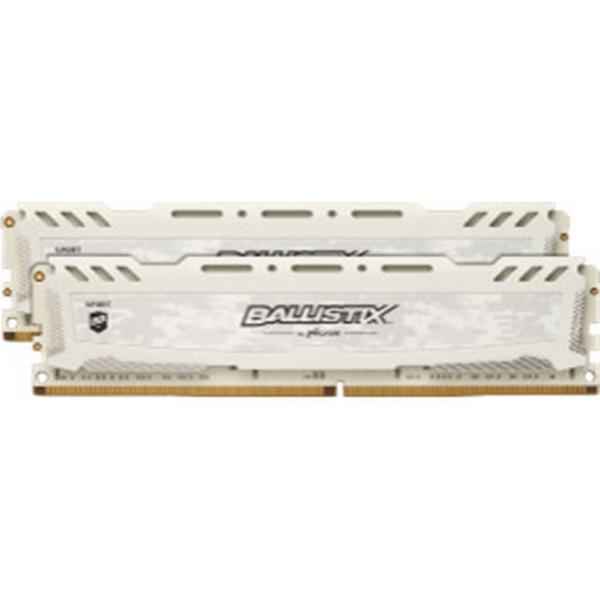 Crucial Ballistix Sport LT White DDR4 2666MHz 2x8GB (BLS2C8G4D26BFSC)