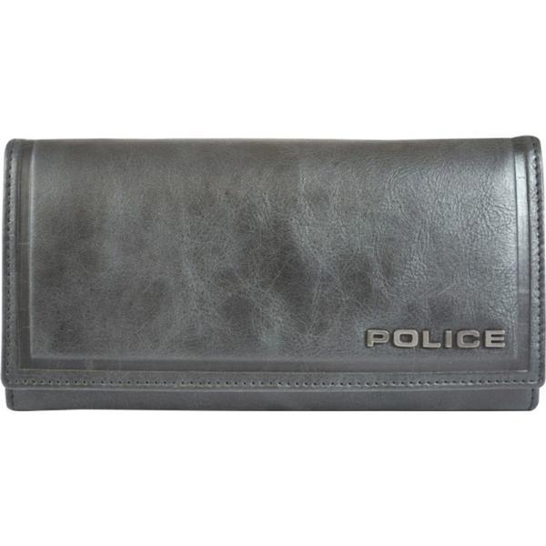 Police Metal Full Flap Wallet - Black/Brown (PT168288)