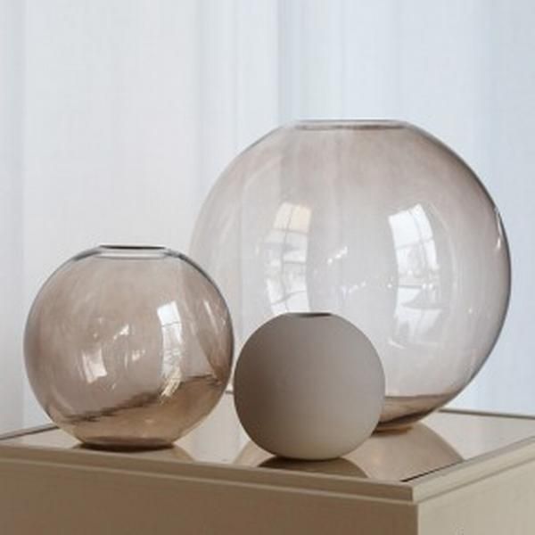 Cooee Design - Ball glas - Vas brown 15 cm
