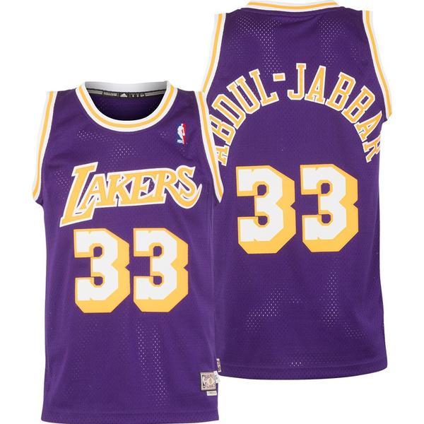Adidas Los Angeles Lakers Swingman Jersey A. Jabbar. 33
