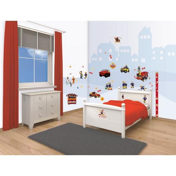 Fireman Sam Bedroom Accessories Double Bedroom Design Ideas Blue Wall Art Bedroom Bedroom Colour Design 2015: Walltastic Fireman Sam Room Decor Kit 43213