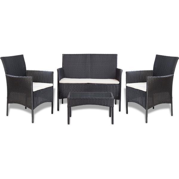 vidaXL 41835 Havesofa (modul/stk) Loungesæt, 1 borde inkl. 2 stole & 1 sofaer