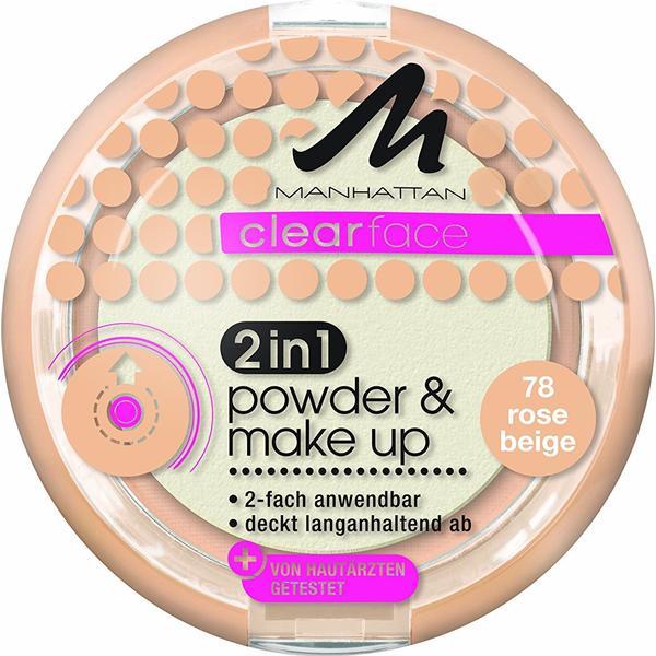 Manhattan Clearface 2in1 Powder & Make Up #78 Rose Beige