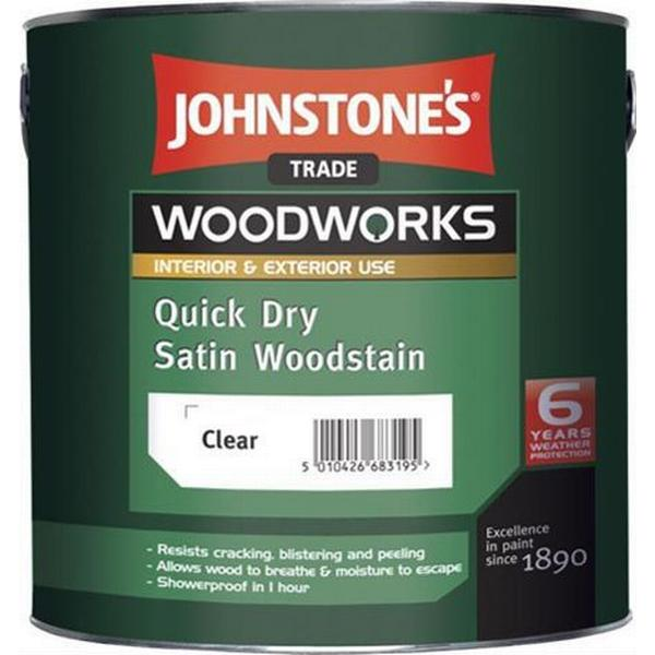 Johnstone's Trade Woodworks Quick Dry Woodstain Brown 0.75L