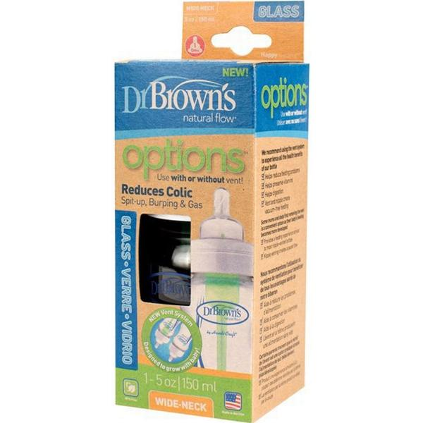 Dr. Brown's Nappflaska Options WideNeck Glas 150ml