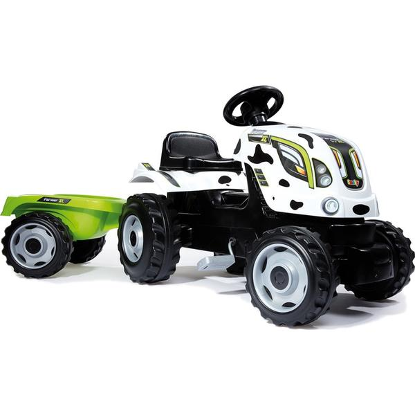 Smoby Cow Farmer XL Pedaltraktor + Trailer