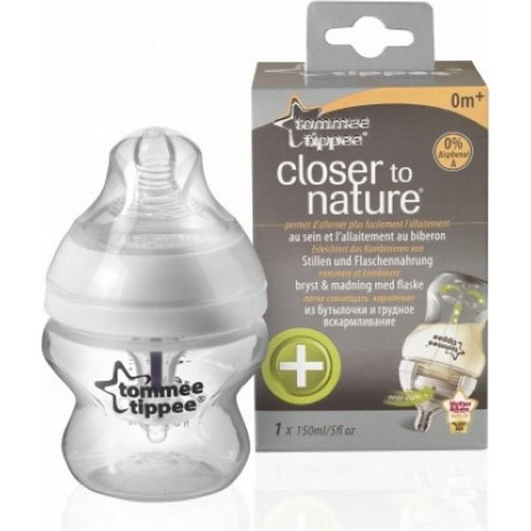 Tommee Tippee Closer to Nature Anti Kolik Flaske Transparent 0+måneder