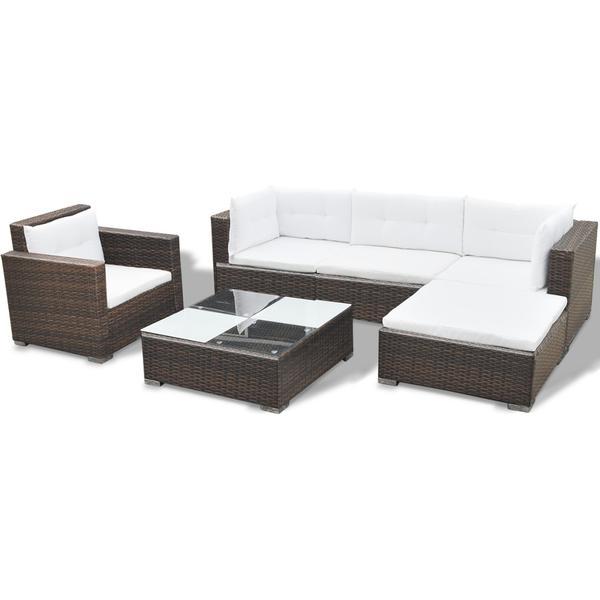 vidaXL 41873 Loungesæt, 1 borde inkl. 1 stole & 1 sofaer