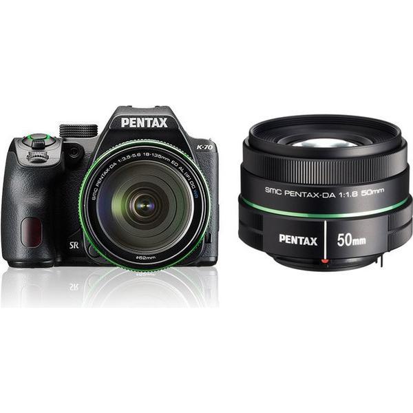 Pentax K-70 + 18-135mm + 50mm