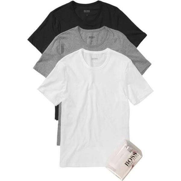Hugo Boss Regular-Fit Cotton T-shirts 3-pack Assorted Pre Pack
