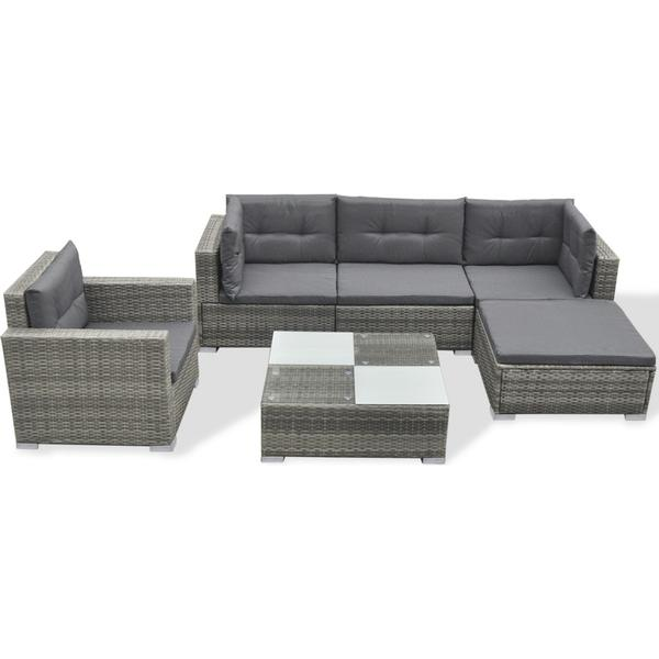 vidaXL 41879 Loungesæt, 1 borde inkl. 1 stole & 1 sofaer