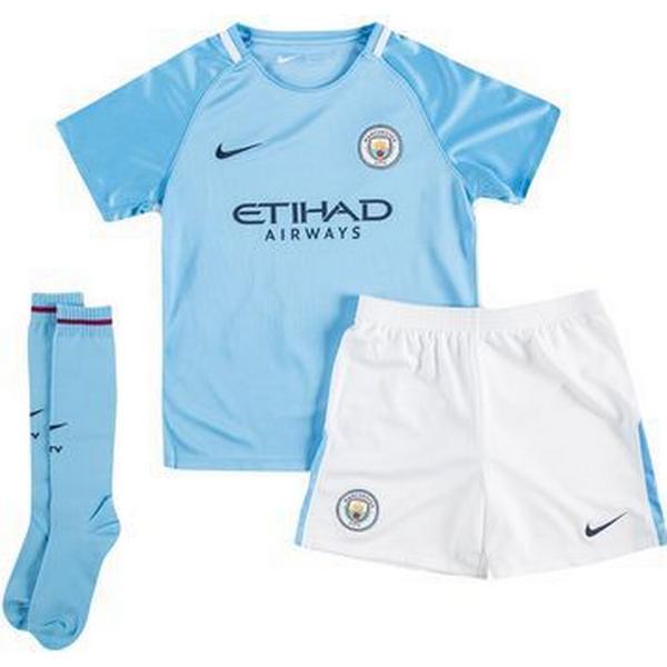 Nike Manchester City Hjemmebane Fodboldsæt Minikit 17/18 Småbørn