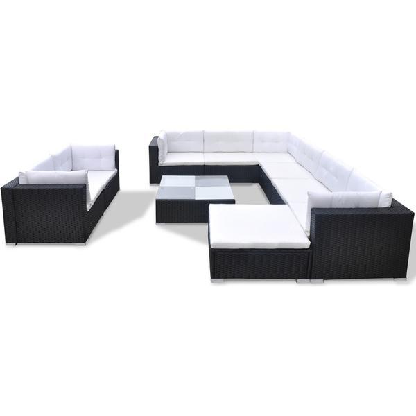 vidaXL 41876 Loungesæt, 1 borde inkl. 1 stole & 3 sofaer