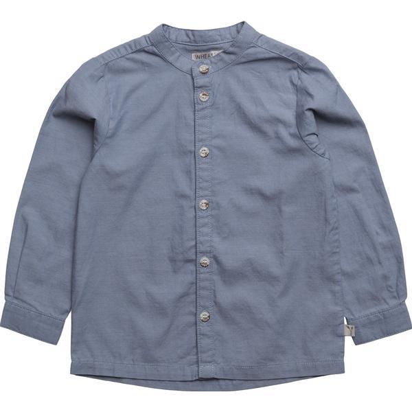 e5a17696961 Wheat Anker LS Shirt - Blue - Sammenlign priser hos PriceRunner