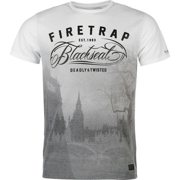Firetrap Blackseal Clock Tower T-shirt White