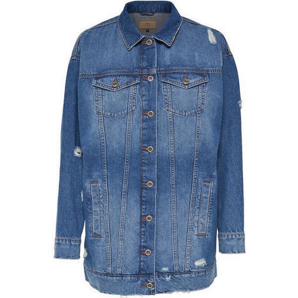 Only Long Denim Jacket Blue/Medium Blue Denim