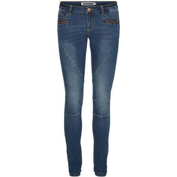 Vero Moda Eve Lw Biker Skinny Fit Jeans Blue/Dark Blue Denim