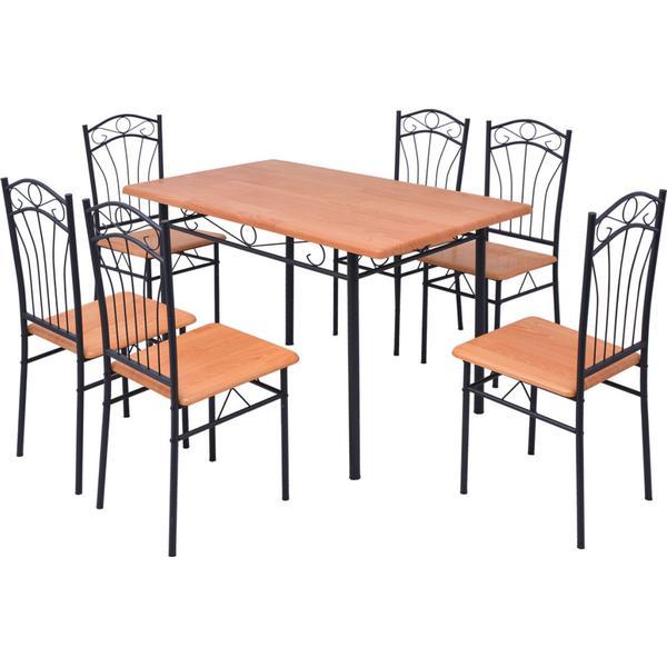 vidaXL 243195 Havemøbelsæt, 1 borde inkl. 6 stole