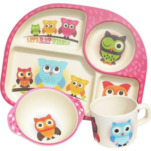 BimBamBoo Kids Dinner Set Owls 3pcs