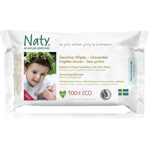 Naty Eco Wipes Sensitive & Unscented 56pcs