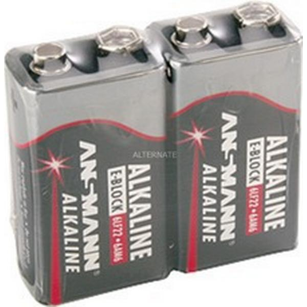 Ansmann Alkaline 9V Block E 2-pack