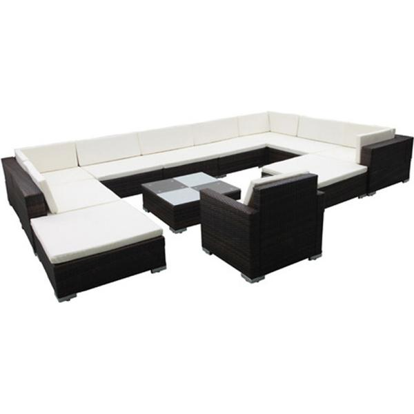 vidaXL 41262 Loungesæt, 1 borde inkl. 1 stole & 3 sofaer