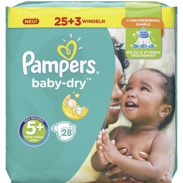 Pampers Baby Dry Size 5+ Junior+