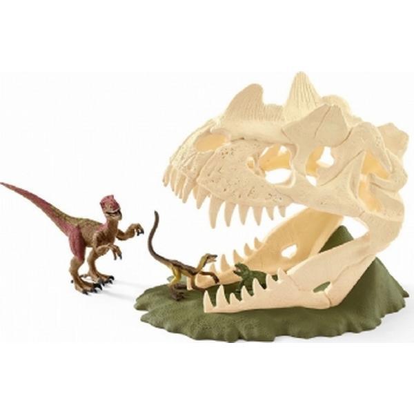 Schleich Large Skull Trap with Velociraptor 42348