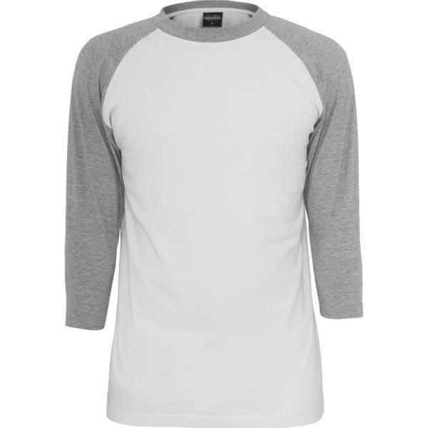 Urban Classics Contrast 3/4 Sleeve Raglan Tee White/Grey