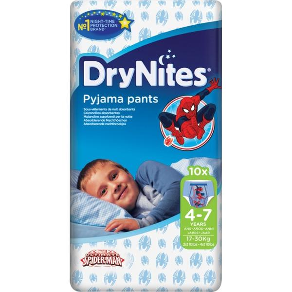 DryNites Pyjama Pants Boy 4-7, 17-30kg, 10 pcs