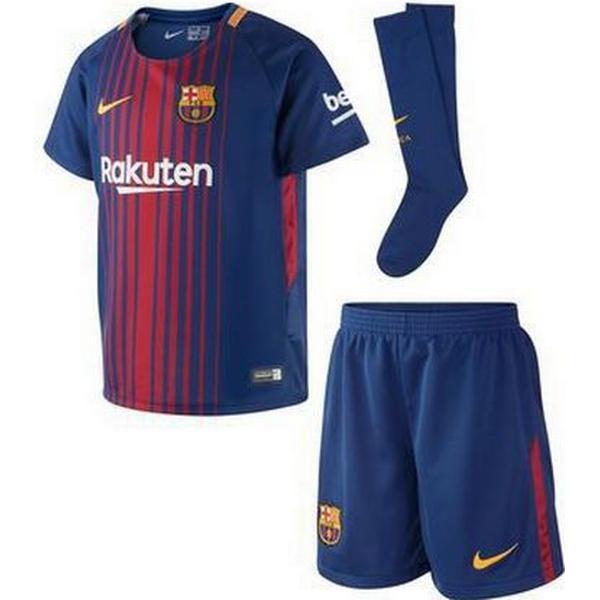 Nike Barcelona FC Hjemmebane Fodboldsæt 17/18 Børn
